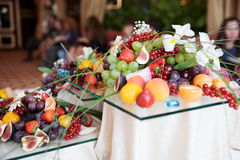 Fruits on banquet table Royalty Free Stock Images