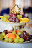 Fruits at banquet table Royalty Free Stock Photo