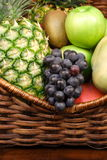 Fruits on basket Royalty Free Stock Photography