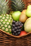 Fruits on basket Stock Photography