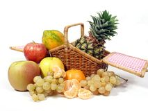 Fruits basket Royalty Free Stock Photography