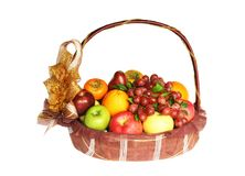 Fruits in basket Stock Photos