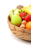 Fruits basket Royalty Free Stock Photo