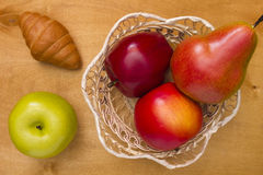 Fruits in a basket Stock Photography
