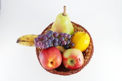 Fruits in basket Stock Image