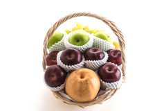 Fruits in a basket Stock Photo
