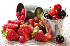 Fruits and berries Royalty Free Stock Images