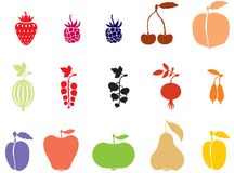 Fruits and Berries Royalty Free Stock Photography