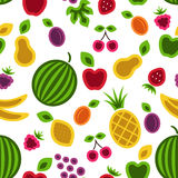 Fruits and berries background. Royalty Free Stock Photos
