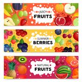 Fruits And Berries Banners Stock Photo