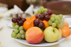 Fruits and berries on holiday. stock photo