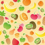 Fruits and berries seamless Royalty Free Stock Photography