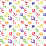 Fruits and berries seamless background Royalty Free Stock Photos