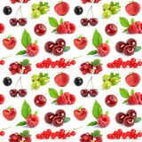 Fruits and berries seamless pattern Stock Image