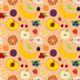 Fruits and berries seamless pattern 5 Royalty Free Stock Image