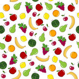 Fruits and berries seamless pattern. Royalty Free Stock Photos