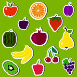 Fruits and berries set vector Royalty Free Stock Image