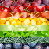 Fruits, berries and vegetables Stock Photo
