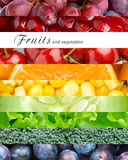 Fruits, berries and vegetables Stock Photography