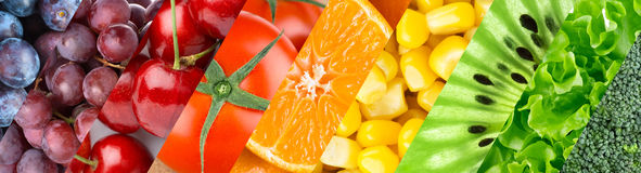 Fruits, berries and vegetables Royalty Free Stock Photos