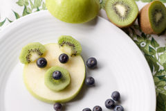 Fruits and berry for a  children dessert Stock Images