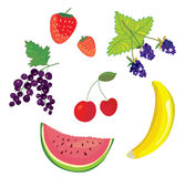 Fruits and berry set Royalty Free Stock Images