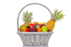 Fruits in big basket Stock Image