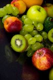 Fruits on black Stock Photo