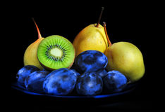 Fruits on black Royalty Free Stock Photo