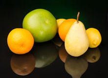 Fruits on black background Royalty Free Stock Images