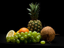 Fruits on black background isolated in studio Royalty Free Stock Image