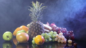 Fruits On Black stock video footage