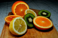 Fruits on the board Royalty Free Stock Photography