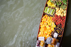 Fruits boat Stock Photo
