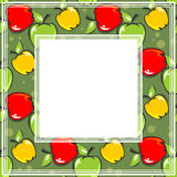 Fruits border Stock Photo