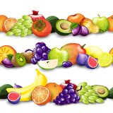 Fruits Borders Illustration Royalty Free Stock Photos