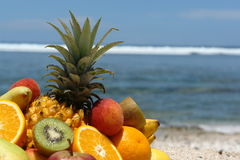 Fruits  on bottom lagoon Royalty Free Stock Image