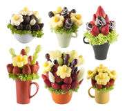 Fruits bouquets of flowers Royalty Free Stock Photo