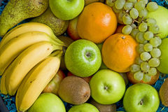 Fruits in a bowl. Different fruits in a bowl Royalty Free Stock Photo