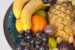 Fruits in a bowl. Healthy nutricious fruits in a bowl Stock Photography