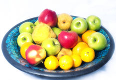 Fruits in a bowl Stock Image