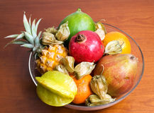 Fruits in bowl Royalty Free Stock Photos