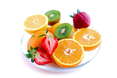 Fruits in a bowl stock photo
