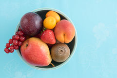 Fruits in a bowl Royalty Free Stock Image