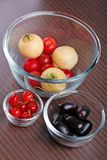 Fruits in bowls Royalty Free Stock Photo