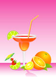 Fruits bright cocktail Stock Image