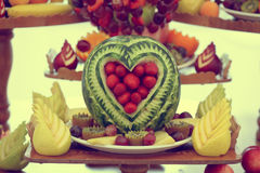 Fruits buffet Royalty Free Stock Image
