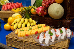 Fruits in buffet Royalty Free Stock Images
