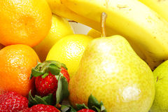 Fruits in bulk. Various fresh fruits in a bulk photo stock photography