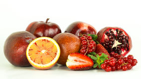 Fruits. A bunch of fresh red fruits stock photos